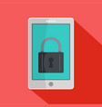 locked phone icon flat style vector image vector image