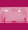 magical moment in metropolis of valentines vector image vector image
