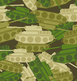 Military background from tanks Army seamless vector image vector image