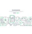 online banking - modern line design style web vector image vector image