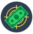 Paper money banknote flat target vector image vector image