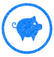 piggy rounded grainy icon vector image