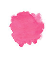pink abstract watercolor isolated on white vector image vector image