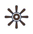 rudder ship nautical object design vector image