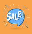 sale banner speech bubble vector image vector image