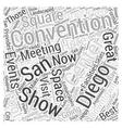 San Diego Convention Center Word Cloud Concept vector image vector image