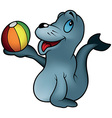 Seal playing With a Ball vector image vector image