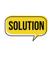 solution speech bubble vector image