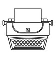soviet typewriter icon outline style vector image