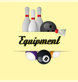 sport equipment yellow background image vector image