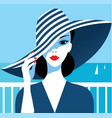 stylish beautiful model for fashion design vector image vector image
