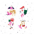 summer compositions vivid color vector image vector image