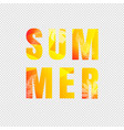 summer text isolated transparent background vector image vector image