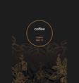 template coffee branch bean dark vector image vector image