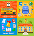time to go to school four banners vector image vector image