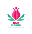 tulip flower - logo template concept vector image
