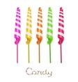 Unicorn twist candies vector image vector image