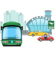 vehicle waiting outside on airport building car vector image vector image