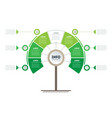 vertical green timeline infographics tree vector image vector image