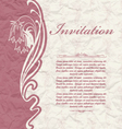 Vintage background for the invitation with flowers vector image