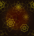 brown seamless pattern with floral mandala vector image