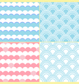 four cute style vector image