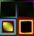 Set of neon frames vector image
