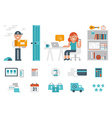 Shopping at home vector image
