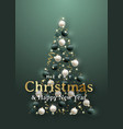 abstract christmas tree 3d realistic vector image vector image