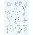 Arrows set hand drawn arrows set vector image