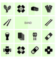 band icons vector image vector image