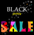 banner with text sale black friday vector image