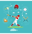 Baseball player with equipment Sport concept vector image vector image