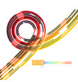 beautiful rotating colors on a white vector image vector image