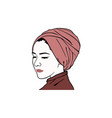beautiful turban girl hairstyle moslem hijab girl vector image vector image
