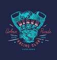 biker club emblem for t-shirt vector image vector image