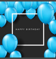 blue balloons on black background vector image