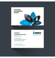 business card template with flower petals vector image vector image