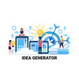business people brainstorming new collective idea vector image vector image