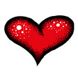 cartoon image of red heart icon love symbol vector image vector image