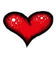 cartoon image of red heart icon love symbol vector image