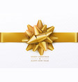 christmas background white gift box with golden vector image