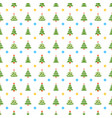 christmas seamless pattern with christmas tree on vector image