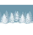 christmas winter background pine trees forest vector image