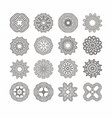 circular monochrome pattern vector image vector image