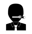 closed zipped mouth vector image