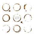 Coffee round stains and blots vector image