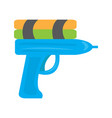 colored water gun toy icon vector image