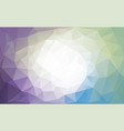 colorful cold colors polygon background vector image