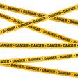 crime scene yellow tape police line do not cross vector image vector image